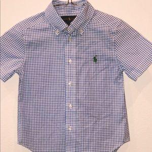 Ralph Lauren Short Sleeves Boys Shirt Size 4